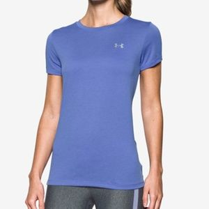 Under armour blue fitted athletic top